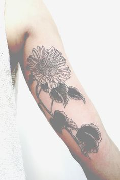 flower ink floral obsessed arm tattoo