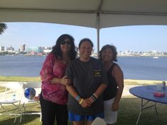Harry Bridges' youngest daughter, Kathy Bridges-Wiggins and Dorinda Garcia from Auxiliary 8 at Bloody Thursday 2012.