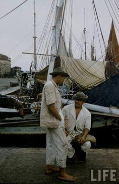 Imagem feita em 1957, por Dmitri Kessel, do mercado do Ver-o-Peso. Do acervo da Life.