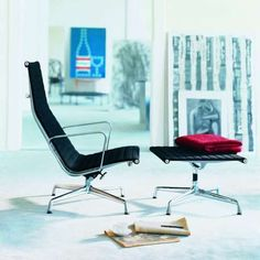 This Eames classic you buy for the next generation; granting a 30 year guarantee on all chairs of the Aluminium. VITRA Alu Chair EA 116