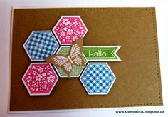 Stempelitis, Stampin up, Karte, Hexagon