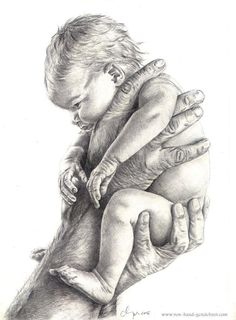 Modèle: Anne Geddes, courtoisie The Effective Pictures We Offer You About art dessin color A quality Cool Art Drawings, Pencil Art Drawings, Realistic Drawings, Art Drawings Sketches, Figure Drawing, Painting & Drawing, Birth Art, Anne Geddes, Pregnancy Art