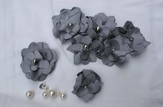 fabric flowers with petals