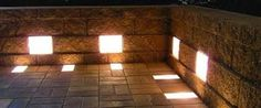 Retaining wall and Paver lights combo