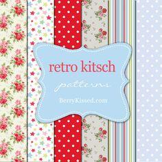 Retro Kitsch Patterns by ~BerryKissed on deviantART