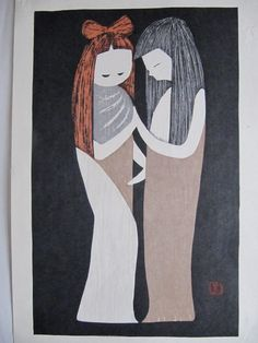 Japanese woodblock print  Kaoru Kawano.