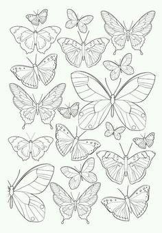 Curso gratuito aprende a hacer mariposas con aluminio - DeCo Modernismo - Colorful Butterfly Drawing, Butterfly Mandala, Butterfly Coloring Page, Small Butterfly Tattoo, Simple Butterfly, Butterfly Painting, Tattoo Small, Easy Drawings, Pencil Drawings