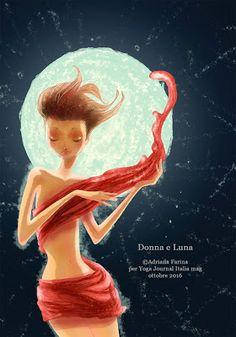 Ava ed Eve: Donna e luna - illustration by ©adrianafarina