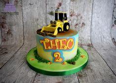 Digger - Cake by Magda's Cakes (Magda Pietkiewicz) Car Cakes For Boys, Baby Shower Cakes For Boys, Baby Boy Cakes, 2nd Birthday Cake Boy, 2nd Birthday Parties, Excavator Cake, Digger Cake, Simple Birthday Decorations, Gravity Defying Cake