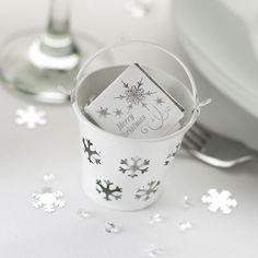 Snowflake Christmas Pails