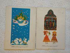 Singing, Christmas Decorations, Snow, Candles, Ebay, Vintage, Art, Art Background, Kunst