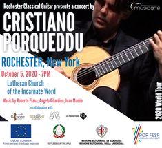 Concerto a Rochester (NY) per la Rochester Classical Guitar New York October, World 2020, Angelo, Classical Guitar, Oscar, Words, Musica, Horse