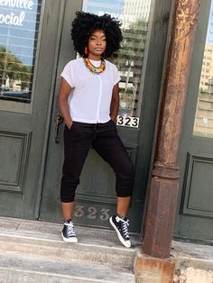 NEED A LAST MINUTE LOOK??? Have a day full of errands and casual gatherings , here is a comfortable yet fashionable look! Part 2 of our Fall Series.. Fall Casually in one of our favorite pieces, go check out our latest article at clothandcord.com #africanjewelry #casualwear #fallvibes #fashioninspo #style #shop #clothandcord #trendytuesday #fallmakeup #blackgirlmagic #africanstyle #handmadejewelry African Necklace, African Jewelry, Fallen Series, Have A Day, Fall Makeup, Black Girl Magic, African Fashion, Casual Wear, Handmade Jewelry