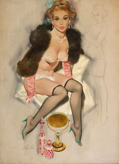 Fritz Willis #lingerie #art #illustration #vintage