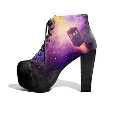 shoes tardis galaxy print platform shoes platform high heels black purple heels doctor who doctor doctor who shoes platform lace up boots Tardis, Geek Fashion, Fashion Shoes, Doctor Who Shoes, Galaxy Shoes, Shoe Boots, Shoes Heels, Diy Mode, Purple Heels