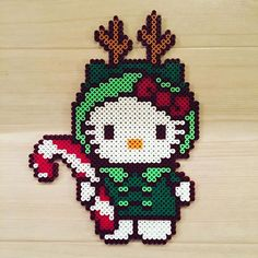 Christmas Hello Kitty pbp by kittybeads