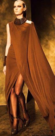 Donna Karan F/W 2013-14 NYFW, bronzed beauty~
