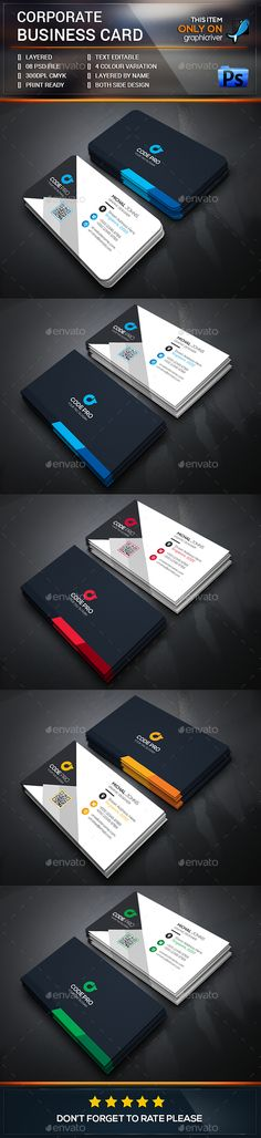 Corporate Business Card — Photoshop PSD #creative #white • Available here → https://graphicriver.net/item/corporate-business-card/13578551?ref=pxcr