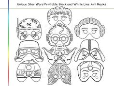 Coloring Pages Stars Party Printable Black and by AmazingPartyShop