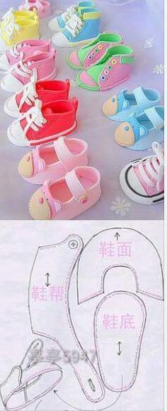Doll Shoe Patterns, Baby Patterns, Baby Crafts, Diy And Crafts, Paper Crafts, Child Doll, Doll Shoes, Soft Dolls, Diy For Girls