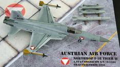 Maßstab: 1:72   Einzelteile: 51   Länge: 200mm   Spannweite: 112mm Tiger Ii, Us Navy, Air Force, Scale Models, Austria, Airplane, Fighter Jets, Aviation, Plane