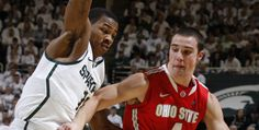 Ohio State's nice win over #5 Michigan State in East Lansing, Michigan on Sunday, March 4, 2012.