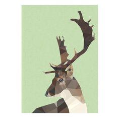 Geometric deer art print ($15) ❤ liked on Polyvore featuring home, home decor, wall art, geometric home decor, deer wall art, paper wall art, geometric wall art and deer home decor