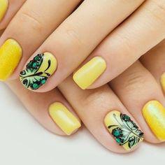 Check out this cute #butterfly nail art! #nails #nailart #naildesigns #fashion
