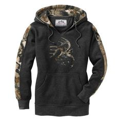 LADIES BIG GAME CAMO OUTFITTER HOODIE ($40) ❤ liked on Polyvore featuring tops, hoodies, hooded sweatshirt, sweatshirts hoodies, camo tops, camouflage tops and camo hoodies