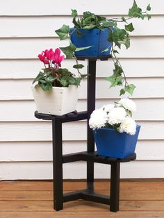 Plant Stand Wood Plant StandFlower Pot Stand by HummelCreations