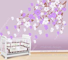 Vinyl wall decals  blossom vines decals baby nursery by NatureWall, $58.00