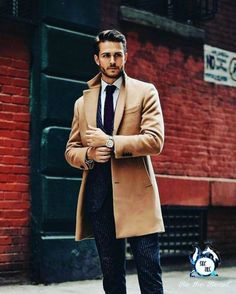 start getting ready // menswear, mens style, fashion, camel coat, overcoat, top coat, suit, haircut, hair style, guys