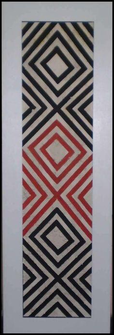 Fco Machado - 2007 - Obra Grafismo Indígena - Relevo com argila 145 x 50 cm                                                                                                                                                                                 More