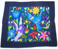 GUATEMALA PILLOW COVER EMBROIDERED ON HUIPIL PILLOW CASE
