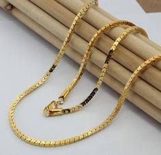 box chain men's long necklace Mens Gold Chain Necklace, Mens Long Necklaces, Gold Chain Design, Gold Bangles Design, Mens Chain Designs, Mens Gold Rings, Gold Jewelry Simple, Gold Chains For Men, Box Chain