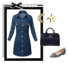 """""""Outfit # 3008"""" by miriam83 ❤ liked on Polyvore featuring Chanel, Kate Spade and Jimmy Choo"""