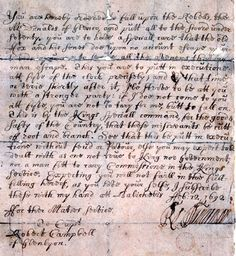 1692 - Order for the Massacre of the MacDonald's of Glencoe by the Campbell's. A devastating and tragic story. The Campbell's have been despised by the MacDonald's since because of this betrayal,