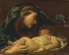 Giuseppe Maria Crespi Lo Spagnolo - Madonna and Sleeping Jesus Madonna Art, Madonna And Child, Blessed Mother Mary, Blessed Virgin Mary, Jesus Mother, Catholic Art, Religious Art, Art Du Monde, Virgo