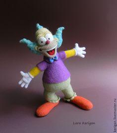 Купить Клоун Красти - разноцветный, клоун, клоун красти, мультяшка, мультяшный герой, мультгерой, симпсоны