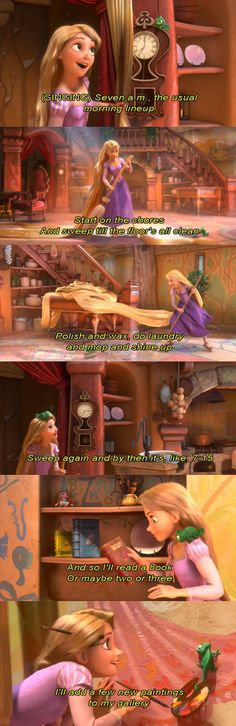 Disney - Rapunzel - Tangled - When Will My Life Begin. (I know the whole song XD )