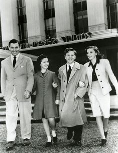 Clark GABLE, Shirley TEMPLE, Mickey ROONEY et Judy GARLAND