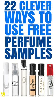 22 Freaking Clever Ways to Use Free Perfume Samples - The Krazy Coupon Lady Free Coupons By Mail, Free Samples By Mail, Free Makeup Samples, Free Stuff By Mail, Get Free Stuff, Free Sample Boxes, Freebies By Mail, Get Free Makeup, Perfume Samples