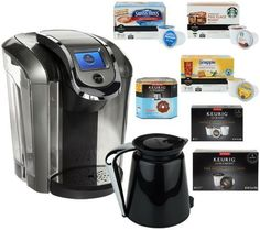 new keurig 20 k550 platinum coffee maker w 42 kcup packs 8 kcarafe packs