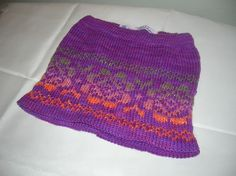 Hand knitted skirt with Fair Isle pattern by SussesSpindehjrne, $55.00