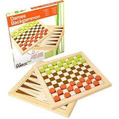 Jeujura Dáma a Backgammon z bambusu Cubes, Scrabble, Ice Cube Trays, Retro, How To Make, Heaven, Checkers Board Game, Tabletop Games, Bamboo