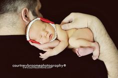 Newborn Wrestling Picture with crochet head gear!!!!! hehe  love this ...
