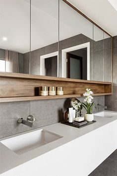 Bathroom Storage Ideas - Simply take a look at these basic ideas we threw together. Below are 22 trendy bathroom storage ideas to keep your bathroom arranged as well as looking . Design Jobs, Design Ideas, Design Design, Bath Design, Design Trends, Modern Design, Tile Design, Design Inspiration, House Design