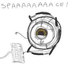 Portal 2 - SPAAAAAAACE by SuperKusoKao. Click for gif