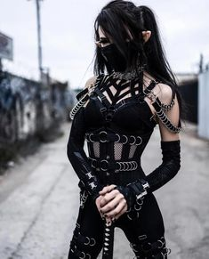 Gothic Outfits, Edgy Outfits, Grunge Outfits, Cool Outfits, Fashion Outfits, Gothic Fashion, Girl Fashion, Apocalypse Fashion, Aesthetic Grunge Outfit