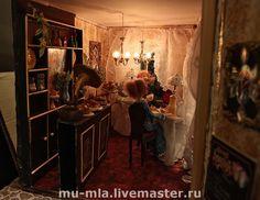 Купить Парижское кафе - Парижское кафе, домик кафе, миниатюрный домик, домик светильник, Кафе